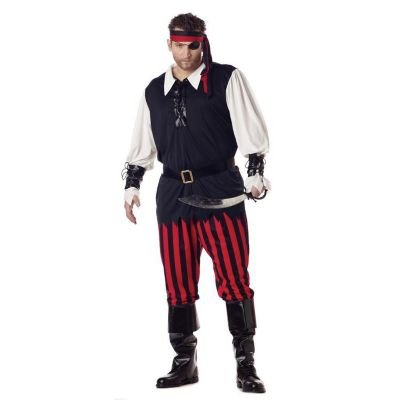 Cutthroat Pirate Costume - XX-Large - Chest Size 48-52