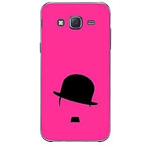 Skin4gadgets Hipster Charlie, Color - Pink Phone Skin for SAMSUNG GALAXY J7
