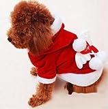Dream-studio サンタクロース コスチューム 天使の羽付 中型犬 猫用 クリスマス Xmas サンタ 衣装 (S)(M)(L)(XL)(XXL…