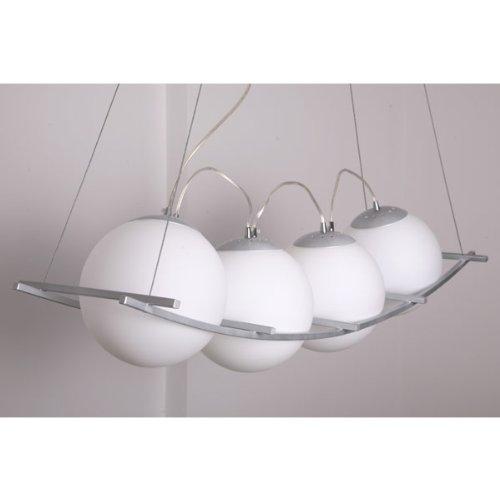 4-er Design Deckenlampe Hängeleuchte Pendelleuchte Milchglas weiches Licht