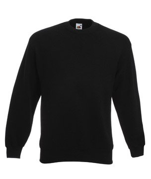Mens Fruit of The Loom Set-In Sweatshirt-Black-XXX-Large-FREE SHIPPING