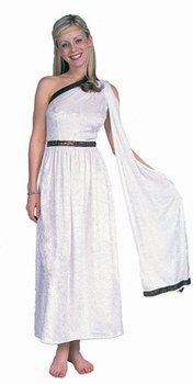 Women's White Long Toga Costume (Size: 8-12)
