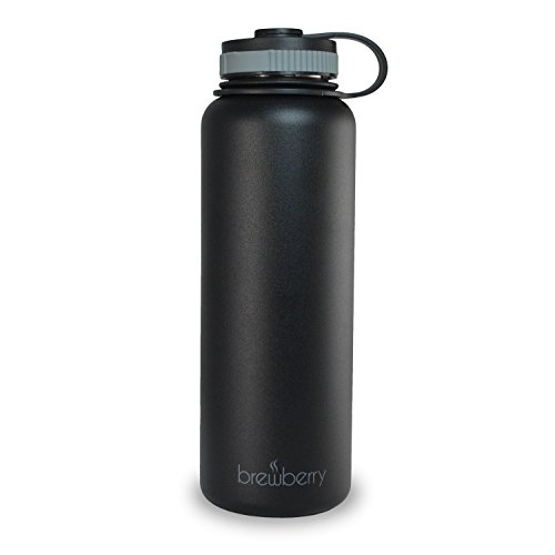 Brewberry Insulated Stainless Steel Sports Bottle and Travel Mug for Hot and Cold Beverages, 40 oz. (Cold Beverage Travel compare prices)