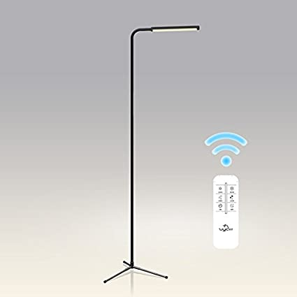 Lámpara de pie LED, mando a distancia Sala de estar Mesa de centro Dormitorio Estudio de cabecera Simple Moderna Leer Piano Lights ( Color : A )