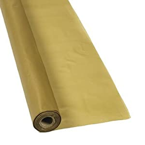 Gold Tablecloth Roll - Tableware & Table Covers by Oriental Trading Company