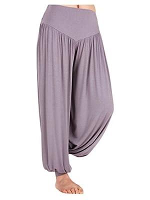 Fancyqube(TM) Women's Smocked Waist Baggy Bohemian Harem Loose Leg Pants