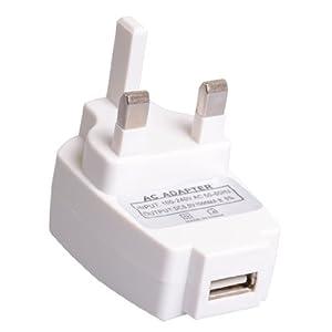 """UK Mains To USB Adaptor Plug For The Amazon Kindle 4 - 6"""" 6 Inch Mains USB Adaptor Plug"""