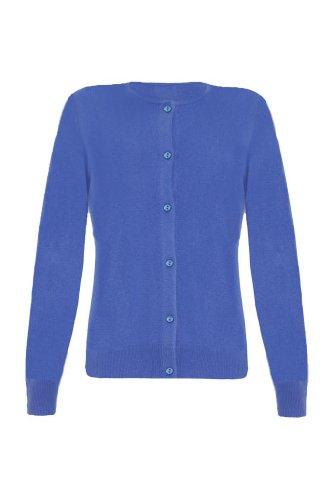 Ladies Cashmere Twinset, Electric Blue, Xl