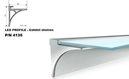 4135 1M/3.3Ft U-Shape Aluminum Channel - Led Aluminum Extrusion For Flex/Hard Led Strip Light White/Milk Cover