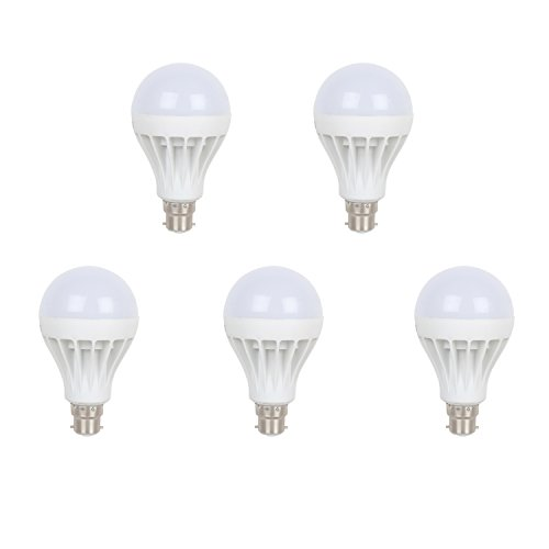 Earton 15W LED Bulb (White, Pack of 5)
