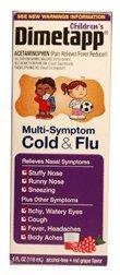 Dimetapp Children's Multi-Symptom Cold & Flu Liquid Red Grape by Dimetapp (Dimetapp Grape compare prices)