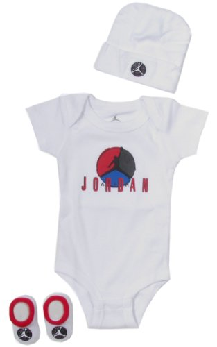 Jordan Baby Clothes Retro Air Jordan VIII Set for Baby Boys and Girls (One Size 0-6 Months) White, 0-6 Months