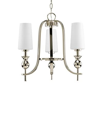 Progress Lighting LadyLuck Chandelier, Polished Nickel
