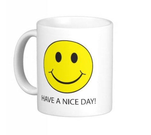 Pair Of Have A Nice Day! Funny Middle Finger Fu Smiley Smile Face 11 Ounce Mugs Gag Gift Office Work Student - Dishwasher And Microwave Safe