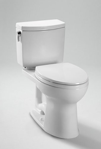 Toto C454CUFG#01 Drake II Elongated Toilet Bowl with SanaGloss, Cotton