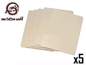 1TattooWorld 5x LARGE SHEETS OF TATTOO PRACTICE SKIN 8 X 12 INCHES, OTW-TAB-5