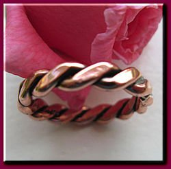 Solid Copper Ring CR021 Size 6