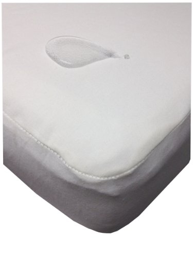 My Little Nest Organic Cotton Waterproof Crib Mattress Pad, White