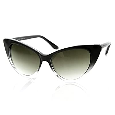 Cat Eye Glasses Black-fade