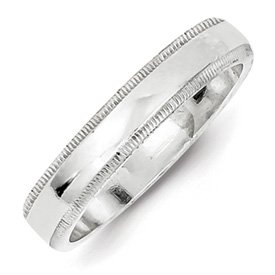 Genuine IceCarats Designer Jewelry Gift Sterling Silver 4Mm Milgrain Band Size 11.50