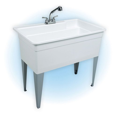 EL Mustee 28CF Laundry Tub Single Bowl Combo