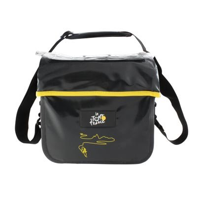 Tour de France Waterproof Bicycle Handlebar Bag (Black, 7-Liters)