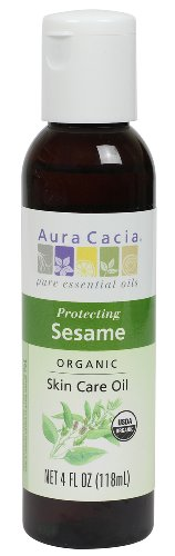 Aura Cacia Organic Skin Care Oil, Protecting Sesame, 4 Fluid Ounce