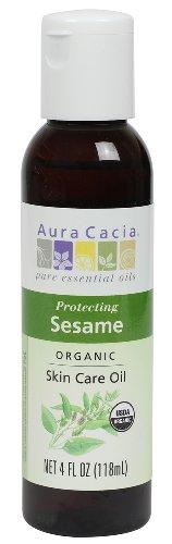 Aura Cacia Organic Skin Care Oil, Protecting Sesame, 4 Fluid Ounce