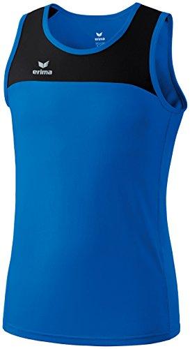 Erima, Canotta sportiva da running Bambini Race Line, Blu (New Royal/Schwarz), 152 cm