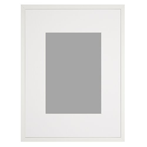 Custom Picture Frame with White Mat (Cut to Fit Your Art)