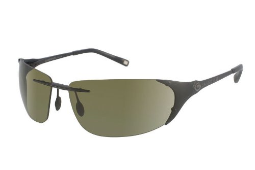 Gargoyles Diffuser Sunglasses - Polarized (Black Frames - Polarized Green Lens)
