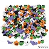 """500 HALLOWEEN Foam BEADS Activity FALL Ghost Pumpkins Monster BATS/1/2"""" -3/4""""/NEW in package/COLORFUL Arts & Crafts FUN Childrens Activity"""