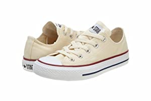 Converse Chuck Taylor All Star Low Top Men Canvas Ivory Athletic Sneakers by Converse