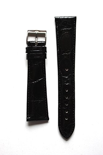 cyma-20mm-black-polished-genuine-crocodile-watchband-from-italy-with-s-s-buckle