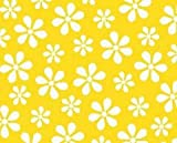 SheetWorld Fitted Pack N Play (Graco Square Playard) Sheet - Primary Yellow Floral Woven - Made In USA