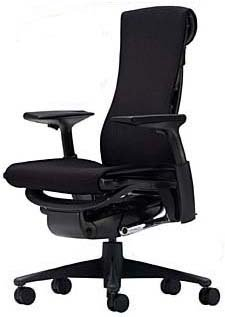 Embody Chair by Herman Miller - Fully Adjustable Arms - Black Balance Fabric on Graphite Frame and Base