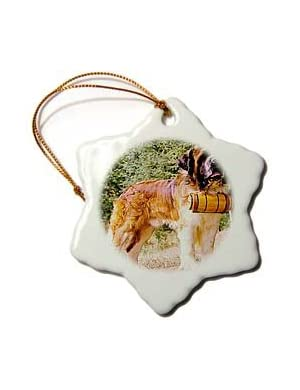 Saint Bernard - 3 Inch Snowflake Porcelain Ornament