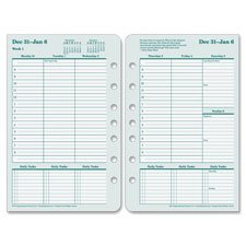 Original Refill Pages,Compact,2PPW,Jan-Dec,4-1/4\