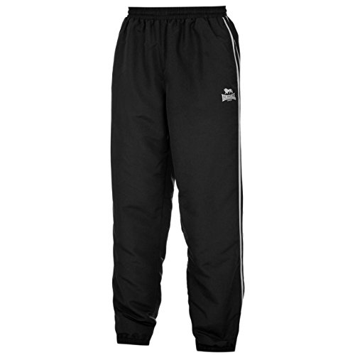 Lonsdale -  Pantaloni sportivi  - A righe - Uomo NERO / BIANCO Medium