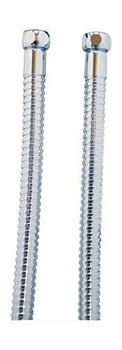 Brauseschlauch für Badeofen   Metall   Chrom   Mit Drehkonus   1,50 m