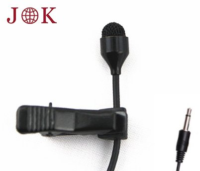 Jk® Mic-J 044 Lavalier Lapel Clip On Omni-Directional Condenser Microphone For Computer Voip Skype Laptop Voice Amplifier (Mono 3.5Mm Plug)
