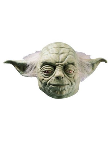 Yoda Deluxe Adult Mask Halloween Costume - Most Adults