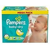 Pampers Baby Dry - Couches Taille 4 Maxi Plus 9-20kg - Le mégapack de 80