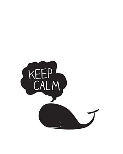 Surdic Muurtattoo Keep Calm Whale