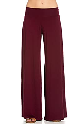 Frumos Womens Comfy Chic Modal Palazzo Lounge Pants Wide Leg Pants