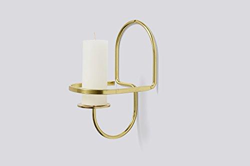 Hay Lup-Porta-candele da parete in ottone-Half Round