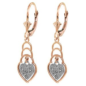 QP Jewellers Natural Diamond Earrings in 9ct Rose Gold, 0.03ct Round Cut - 4145R