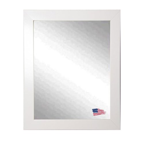 American Made Rayne Polished White Wall Mirror, 24.5 X 30.5 front-520261