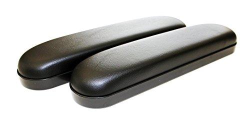 Wheelchair Armrest Pad Vinyl (Desk Length 10 inches, Black) Pair Desk Arms