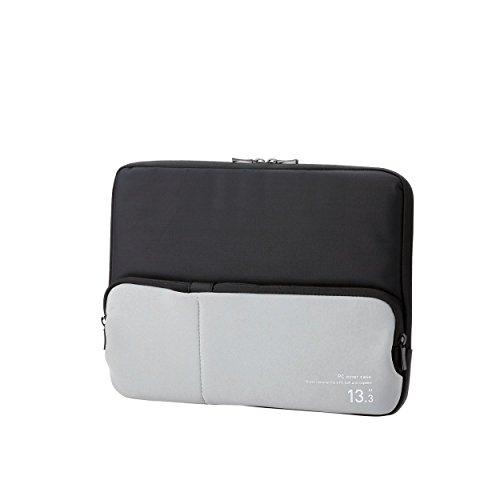 ELECOM PC用インナーバッグ ACアダプタ等小物収納ポケット付 13.3インチ ブラック BM-IBPT13BK